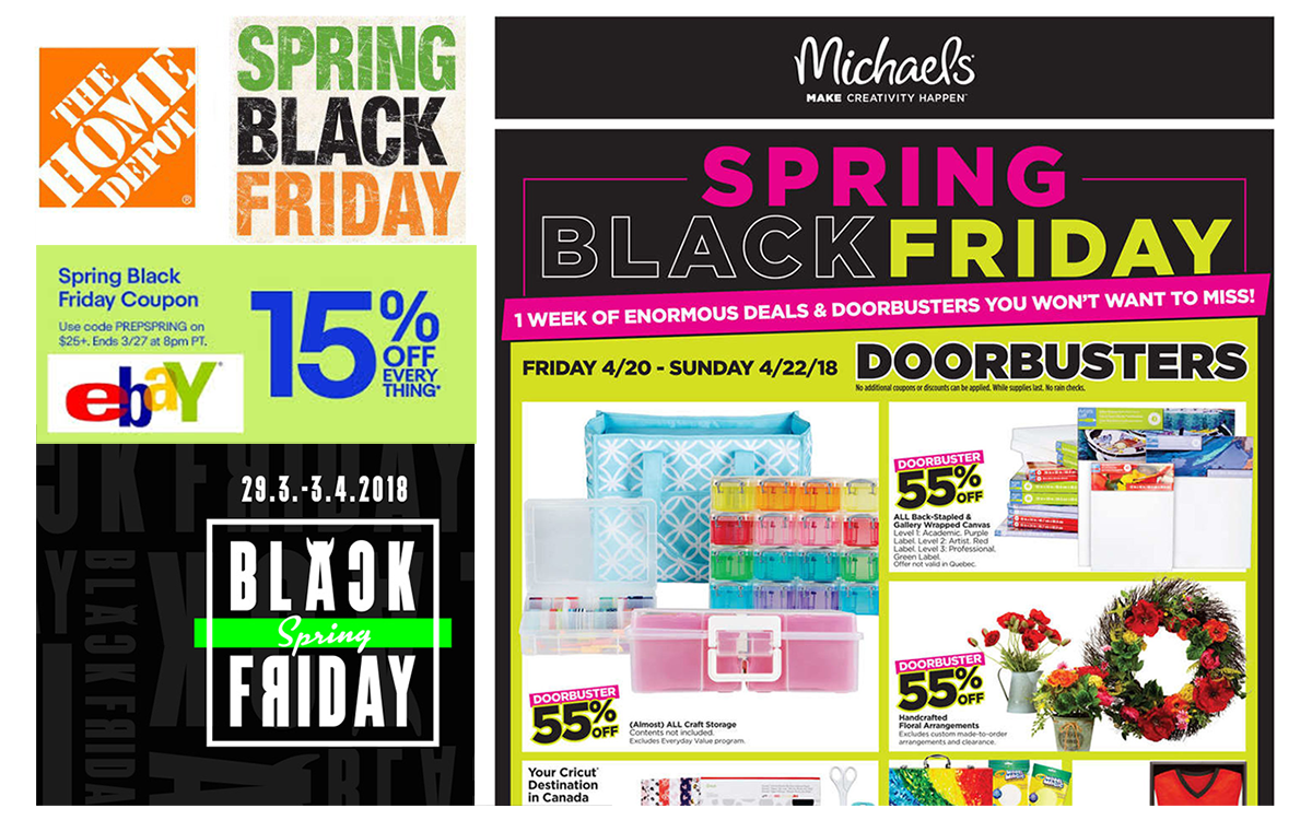 47405962b Big companies such as Home Depot and eBay, for instance, have already used  Spring Black Friday marketing.
