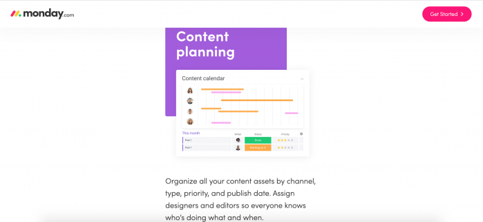 content planning template
