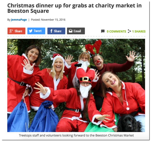 A Christmas Charity dinner was set in Nottingham, England