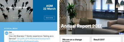 Dynamic annual reports online