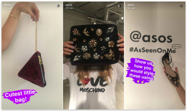 ASOS snapchat pictures