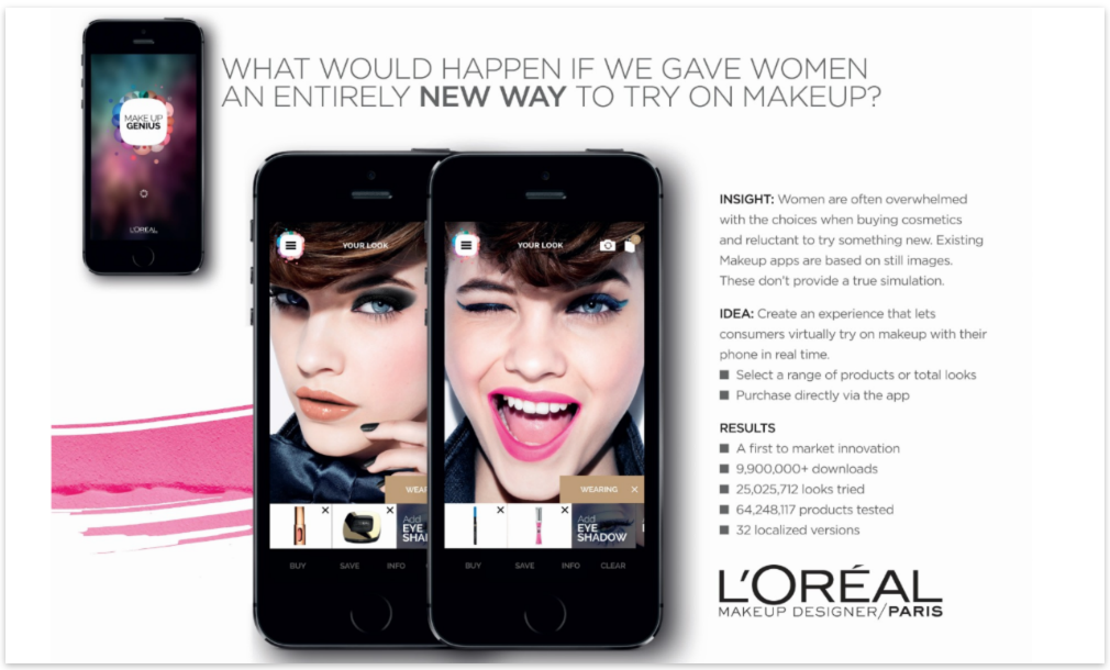L'Oréal 's MakeUp Genuis App