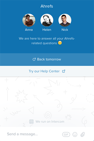 To improve customer experience, Afrefs introduced Live Chat on the website.