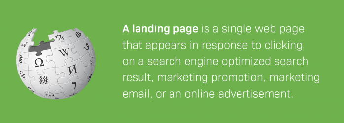 landing page definition