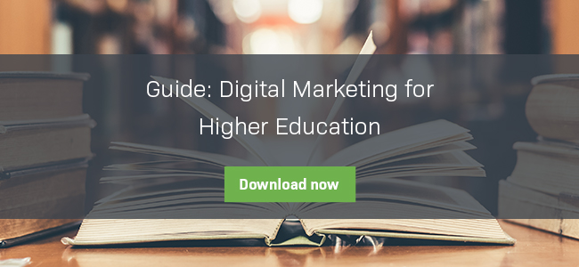 Download the guide to Digital Marketing for Higher Education