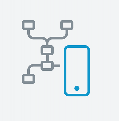 Mobile automation chain illustration