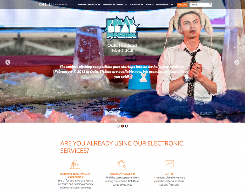 BusinessOulu decided to use LianaCMS for their website revamp project