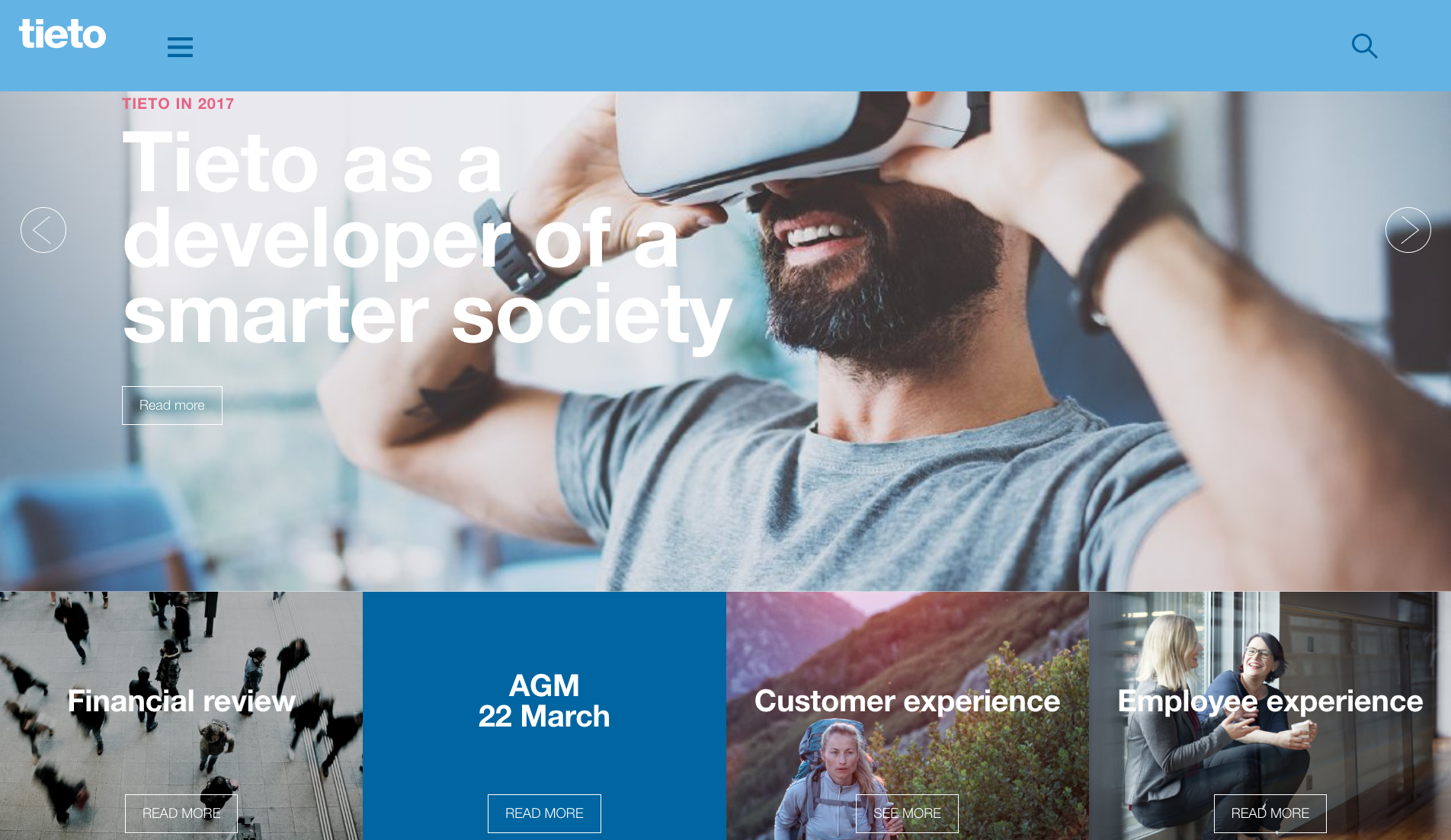 Tieto's annual report, done by Liana Technologies and Miltton
